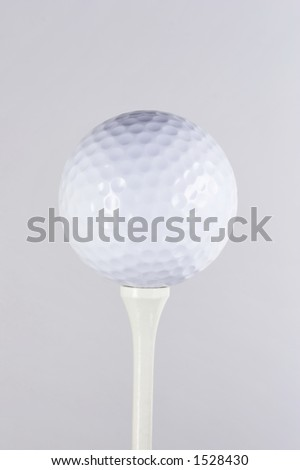 golfball on a golf-tee - stock photo