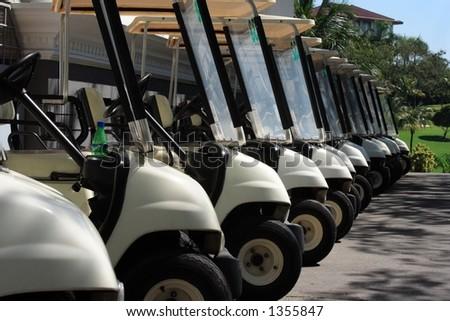 Golfcart close up - stock photo