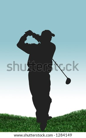 golfer - stock photo