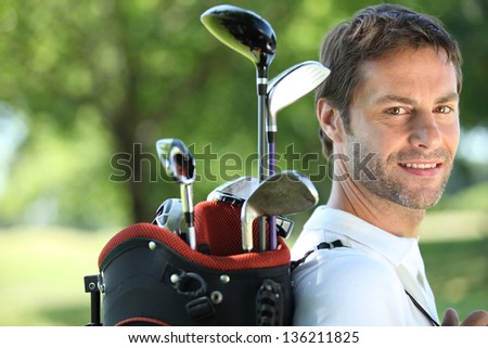 Golfer - stock photo
