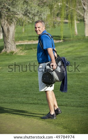 Golfer Enjoying the Golf Course