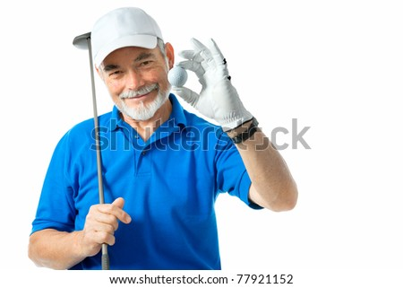 golfer isolated on a white background - stock photo