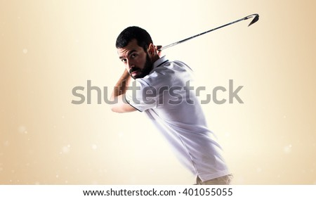 Golfer man - stock photo