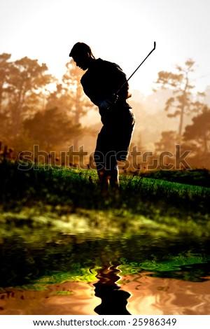 Golfing - stock photo
