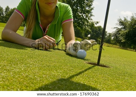 Golfplayer - stock photo