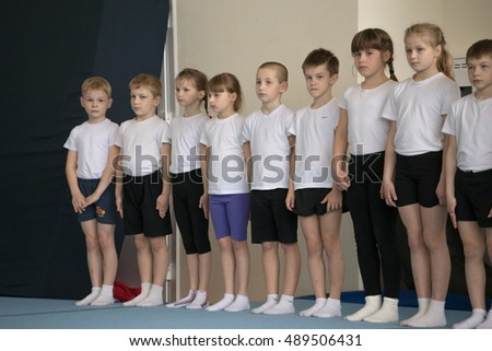 Gomel, Belarus - April 30, 2016: sports among boys and girls born in 2005-2006 freestyle. Palace of Water Sports.