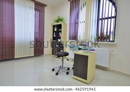 Gomel, Belarus - 29 February 2016: The interior of a beauty salon, Gomel, Belarus