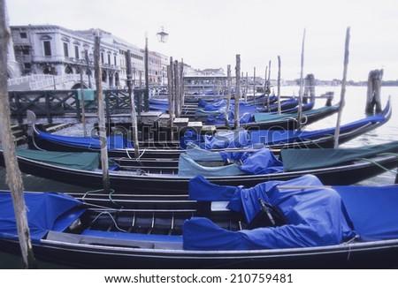 Gondola At A Harbor - stock photo