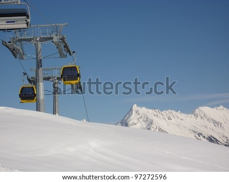 Gondola in the Alps