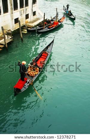 Gondola in Venice, Italy - stock photo