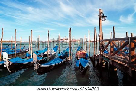 Gondolas - stock photo