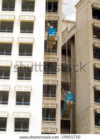 Gondolas Workers - stock photo