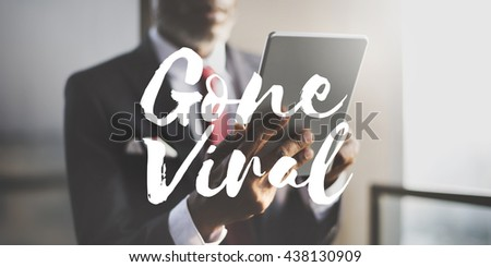 Gone Viral Social Media Networking Connection Sharing Concept - stock photo