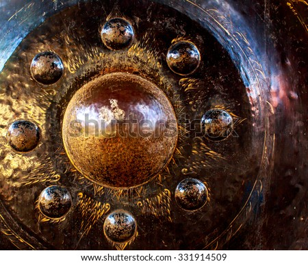 Gong in a Buddhist temple - stock photo