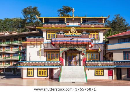 Gonjang Monastery is a buddhist monastery in Sikkim, India - stock photo