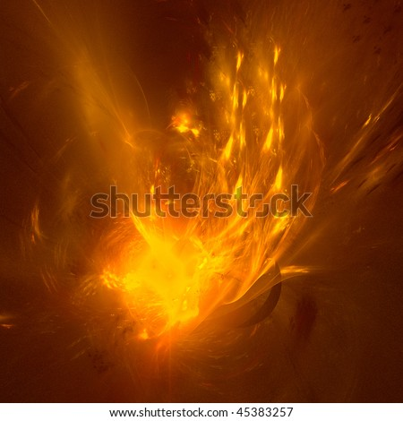 good abstract figure to background. fractal rendered