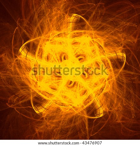 good abstract pentagonal figure to background. fractal rendered