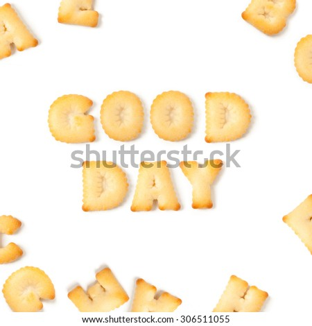 Good day cookie font alphabet. - stock photo