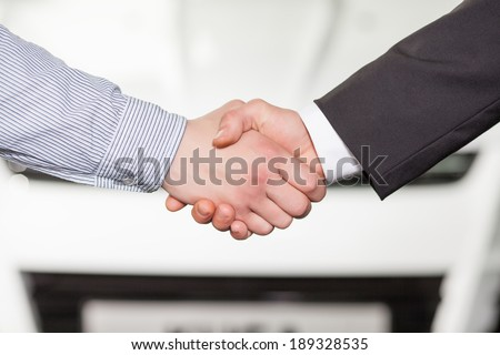 Good deal. Close-up of handshaking - stock photo