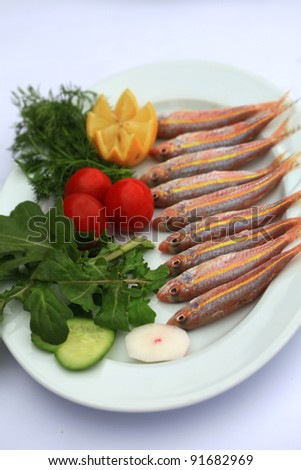good for your health in a fish feast - stock photo