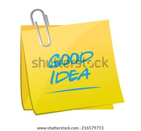 good idea post illustration design over a white background - stock photo