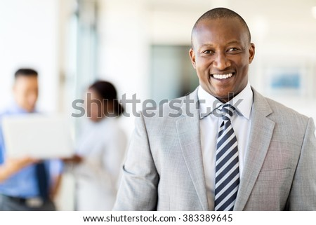 good looking african american business executive - stock photo