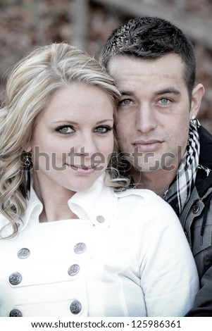Good Looking Couple in Love - stock photo