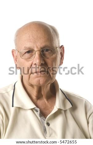 good looking elderly senior man - stock photo