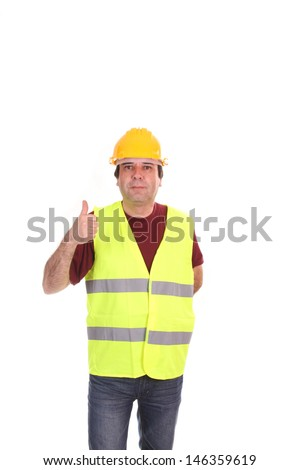good looking mature man architect - stock photo