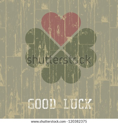 Good luck. St. Patrick's Day concept. Raster version, vector file available in portfolio. - stock photo