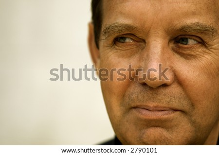 Good man (special film photo f/x,focus point on the left eye) - stock photo