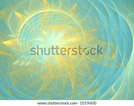 Good Morning! Abstract background, created with Apophysis - stock photo