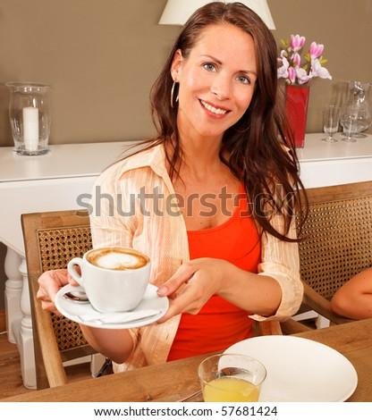 good morning coffee - stock photo