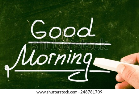 good morning concept - stock photo