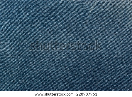 Good old American real denim jeans background. Deep indian indigo blue color. For fashion design, identity and greeting cards - stock photo