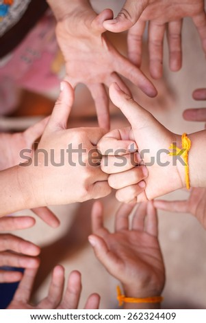 Good or Very good hand sign. - stock photo