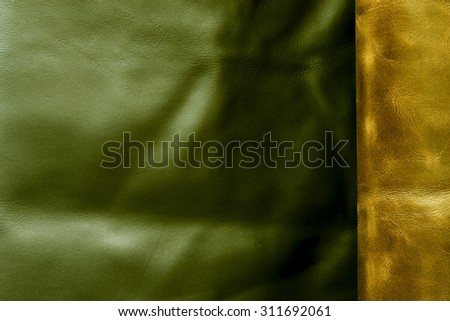 good quality leather in various colors - stock photo