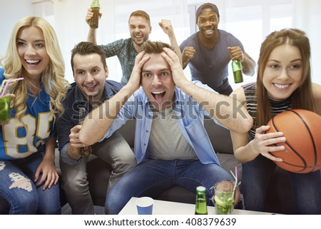 Good result of basketball match - stock photo