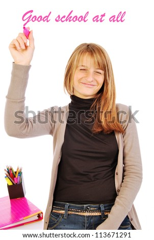 Good school at all - stock photo