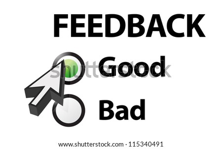 Good selected on a feedback question. Illustration design - stock photo