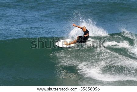 good surfer in action