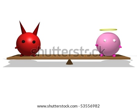 Good Versus Evil - stock photo