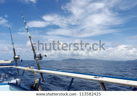 Good weather, good spirits and the fish bite - stock photo