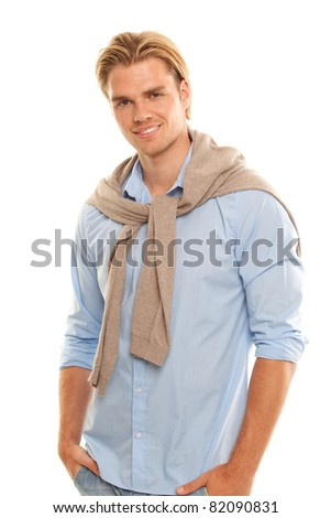 goodlooking man - stock photo