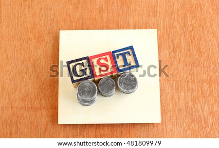 Goods and Services Tax (GST) concept.
