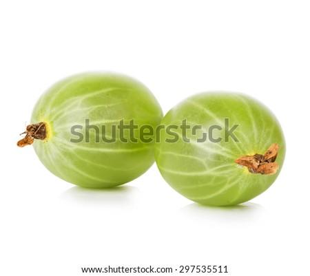 Gooseberries isolated on white background - stock photo