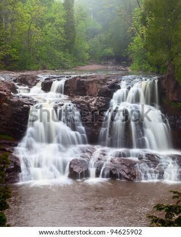 Gooseberry Falls, North Shore of Lake Superior, Minnesota, USA - stock photo