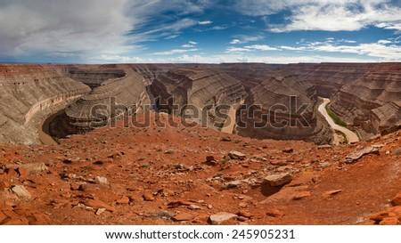 Goosenecks Canyon - stock photo