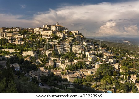 Gordesl village, traditional village in Vaucluse, Provence, France
