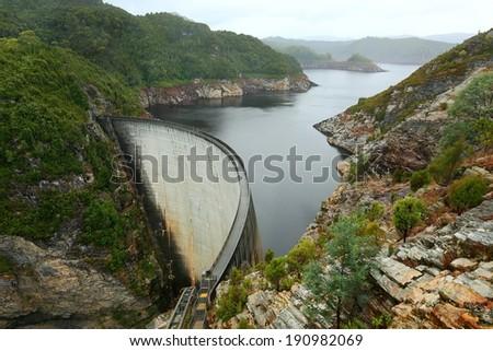 Gordon Dam - stock photo